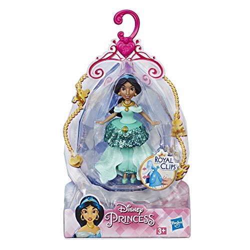 Hasbro Disney Prinzessinnen E3089ES0 Prinzessin Kleine Jasmine Puppe mit Royal Clips Fashion, ca. 9 cm groß, Mehrfarbig, 3,8 x 10,2 x 17,8 cm
