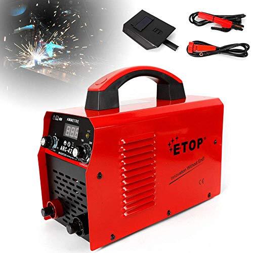 Soldadora ARC de 220 V, portátil, inversor IGBT, soldador de electrodos, adecuado para la soldadura del acero bajo en carbono.