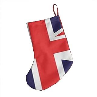 Union Jack Christmas Stockings 18 Inches Large Size Holiday Season Decor