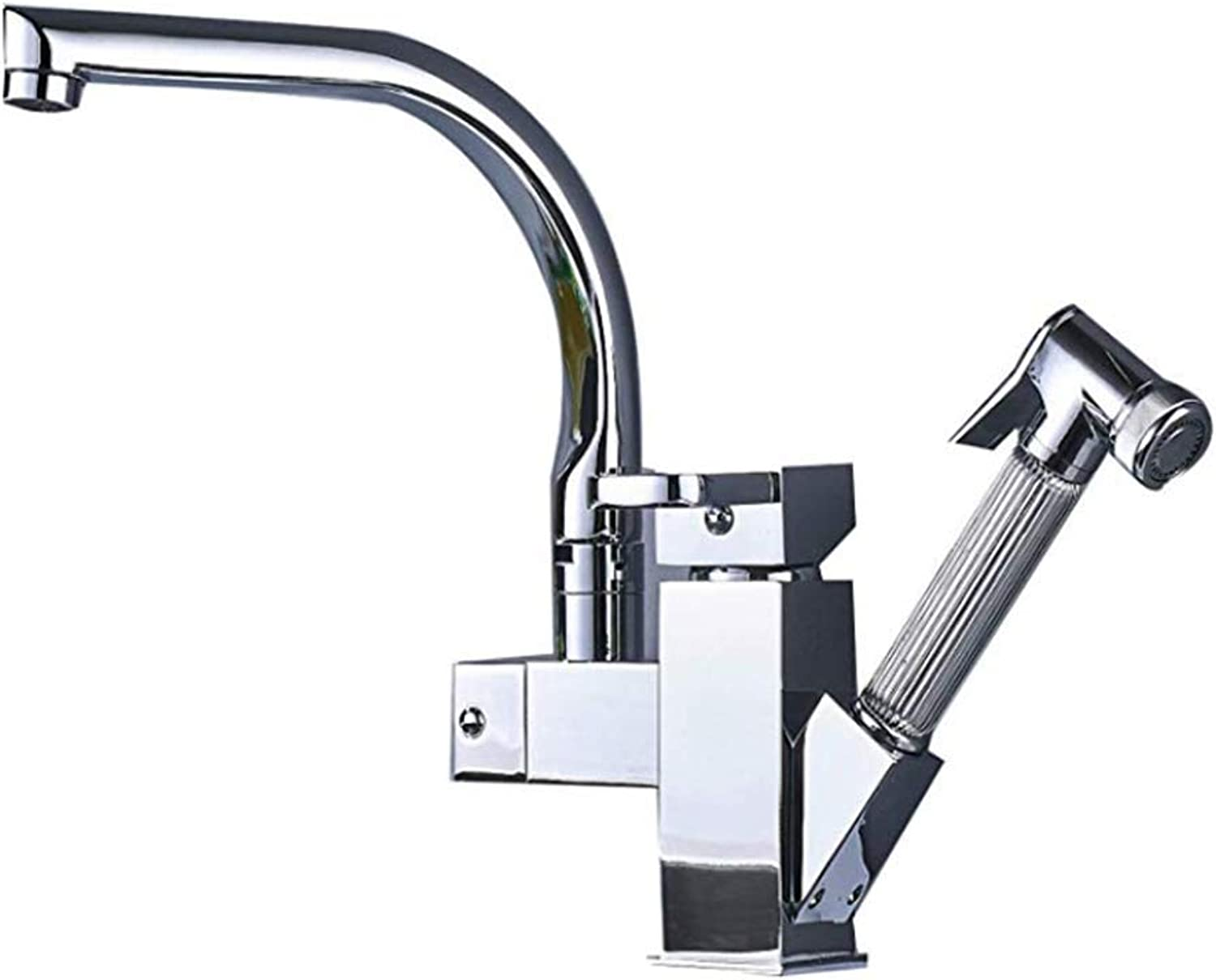 Basin Faucetgood Build Quality Kitchen Sink Mixer Tap,Swivel & Dual Spout Pull Out Bar Taps