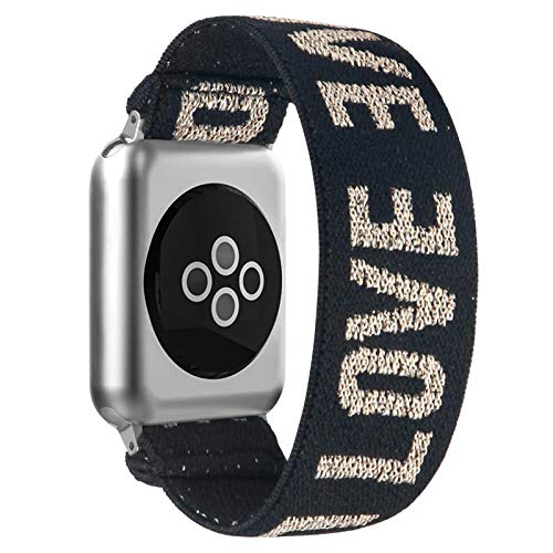 BMBEAR Stretchy Strap Loop Compatible with Apple Watch Band 38mm 40mm iWatch Series 6/5/4/3/2/1 Love