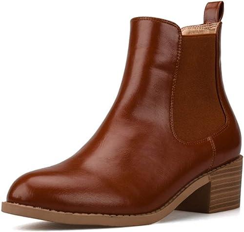 XU-XINGFU Frauen Classic Stiefelies Patent Obermaterial (Farbe (Farbe (Farbe   Braun, Größe   38 EU)  Hol dir das neuste