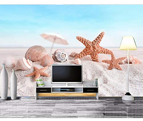 Xzfddn Custom 3D Fototapete Strand Seestern Frische Custom Foto Tapete 3D Stereoskopische Tapete Wohnzimmer TV Hintergrund Wand
