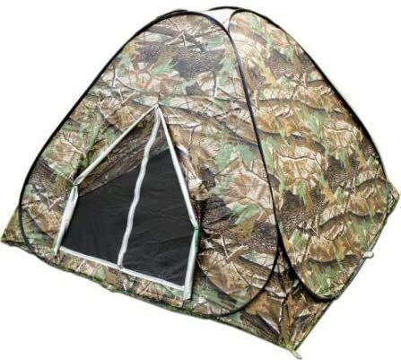 QIANSHI Your own secret space, Camouflage 3-4 Person Watching Bird Hunting Toilet Dressing Pop Up Portable UV Hiking Travel Outdoor Camping Tent Exclusive space enhances independence.