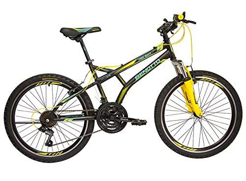 Benotto MSHFIR2421UNNE Bicicleta de Acero Rodada R24, Hombre, Frenos V, 21 Velocidades
