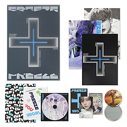 TXT The 2nd Album - THE CHAOS CHAPTER : FREEZE [ WORLD ver. ] CD + Photobook +...