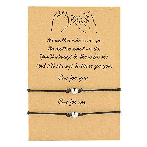 Cheerslife Perlen Seil gewebt Strang Armband Bohemian Friendship Handmade Bracelet für Frauen Mutter Tochter Liebe Guter Freund perfekt geeignet als Geschenk
