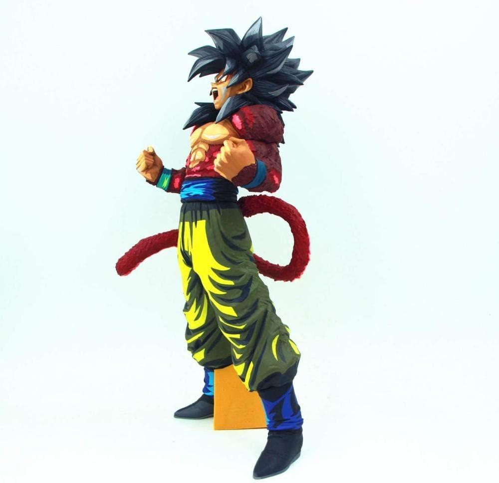 34 cm Anime Action Figures Shock Wave Super 4 Zwart Wit Saiyan Zoon Comic Trunks Goku Model Poppen Collectie EEN-B C