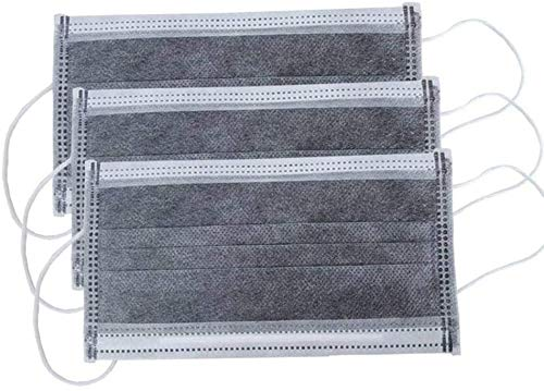 Renren 100 x grau Schutzhülle, atmungsaktive Ohrbügel, 3 Schichten, schützt den Mund, geeignet für Outdoor-Aktivitäten, Schule, Freunde, Parks, grau (100, Grau)