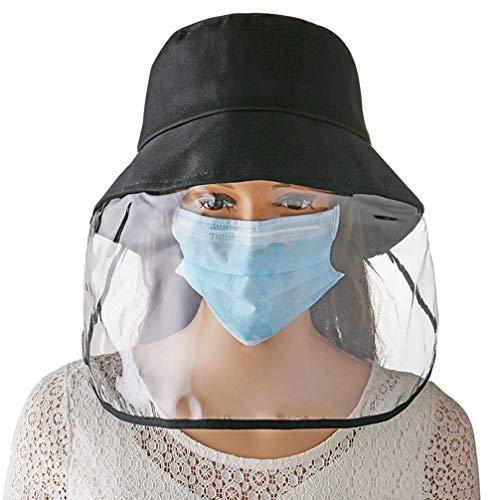 DISKY Schutzhut mit Brille, Anti-Staub-Kappe, Augenschutz, winddicht, Anti-Spuck-Face-Abdeckung, 2-in-1-Kappen