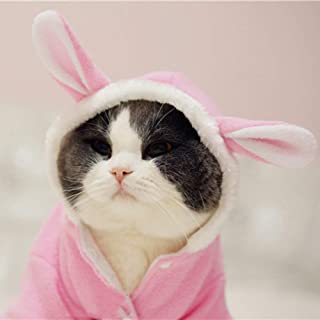 WORDERFUL Pet Dog Rabbit Costume Puppy Hoodies Winter Coat Bunny Autumn Winter Halloween for Small Dog and Cat XS