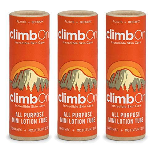 climbOn All Purpose Lotion Bar - Aromatherapy Balm Helps Soothes and Moisturizes Dry Cracked Skin (Original, 0.5 oz Tube (3 Pack))