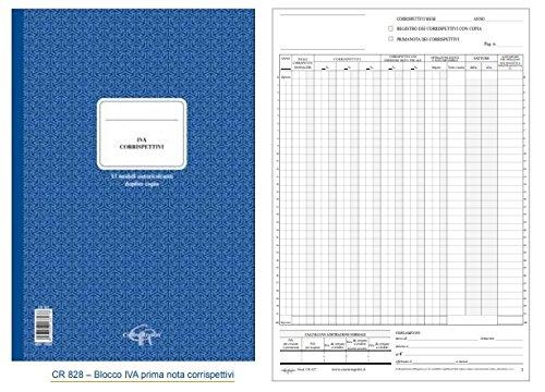 Registro IVA Corrispettivi duplice copia 25 mesi