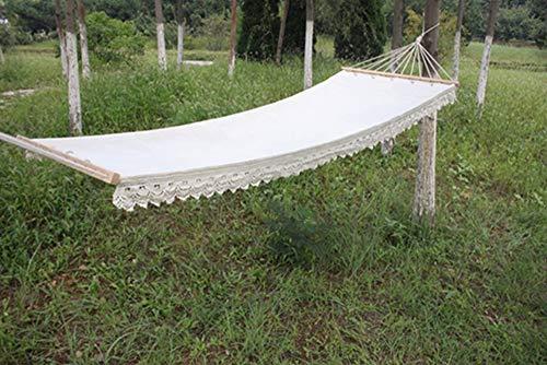 Unknow Extérieur Jardin Coton hamac Double hamac, et Widen 200 Allonger x 80 cm jusqu'à 120 kg pour Voyage et Jardin