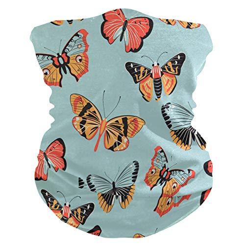 Sawhonn gezichtsmasker met vlindermotief, meervoudig gebruik, magische sjaal, balaclava, hoofddeksel voor buiten, voor dames en heren