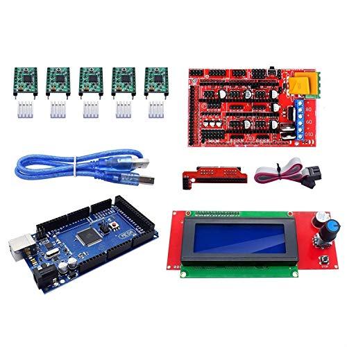 CNC-Kit-Teilesteuerung für 3D-Drucker + Mega 2560-Karte + A4988-Schritttreiber + 2004 LCD-Anzeigesteuerung für 3D-Druckzubehör von Arduino