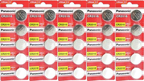 Panasonic CR2016 3 Volt Lithium Coin Battery 25 Pack