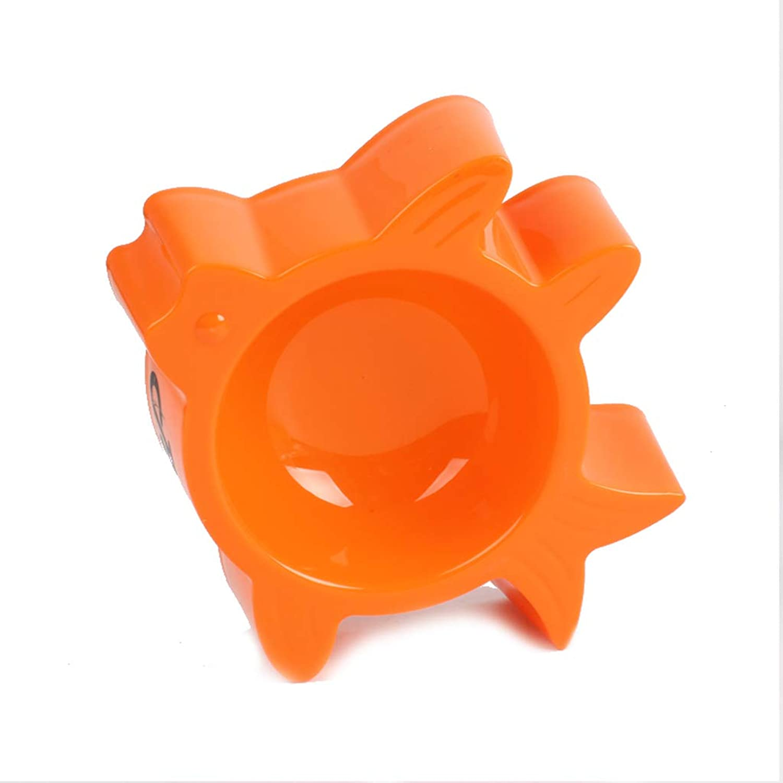 MXD Pet Supplies Dog Bowl Small Fish Shape Pet Bowl Cat Bowl Cat Pot Dog Pot (color   orange)