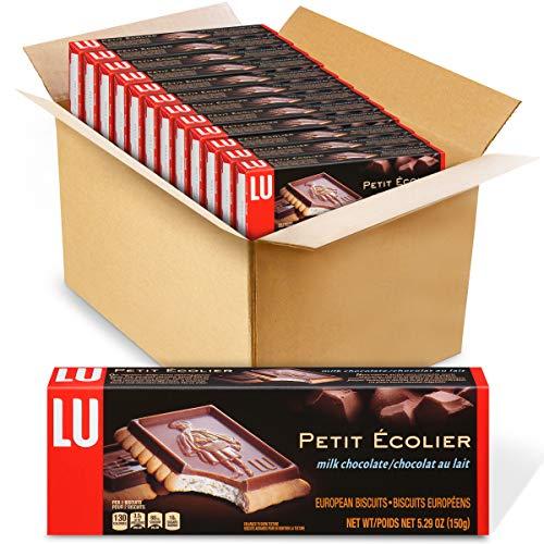 Lu Petit Ecolier European Milk Chocolate Biscuit Cookies, 12 - 5.3 oz Boxes