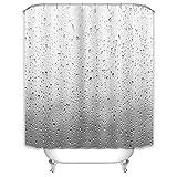 X-Labor Regen Fenster Duschvorhang 240x200cm Wasserabweisend Stoff Anti-Schimmel inkl. 12 Duschvorhangringe Waschbar Badewannevorhang 240x200cm Muster-B