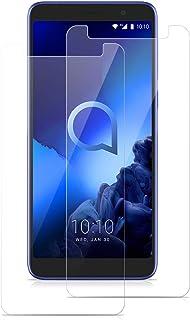 ROVLAK skärmskydd för Alcatel 1X 2019 härdat glas skärmskydd 2-pack HD 2,5D 9H skyddande filmskydd anti-fingeravtryck bubb...
