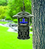 DynaTrap Insect Trap (DT1100), Open Faced, 1/2 Acre, Black - Includes Two Bonus UV Bulbs and Cleaning Brush