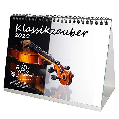 Klassieke magie DIN A5 tafelkalender 2020 klassiek en instrumenten cadeauset: 1 wenskaart en 1 kerstkaart – zielmagie