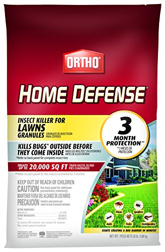 Ortho Home Defense Insect Killer for Lawns Granules - Treats up to 20,000 sq. ft., Lawn Insect Killer Kills Ants, Ticks, Fleas, Spiders, Centipedes & Other Listed Bugs, Fast Acting, 20 lbs.