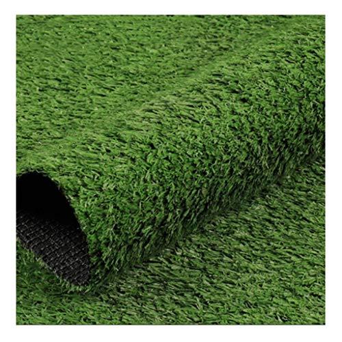 ZIYEYE 15 mm hög höjd konstgräs matta trädgård gräsmatta inomhus och utomhus syntetisk torv landskap prydnad heminredning - grön (storlek: 2 m x 0,5 m)
