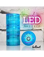 Hellmet LED Bangerz - Ruedas para longboard (LED, color azul
