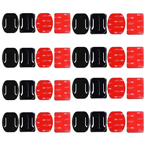 Klebehalterung Flache,32Pcs Gebogene Klebepad Klebebefestigung Adhesive Helmbefestigung aus 3M Kleber Universelle Standardzubehör Für die GOPRO Action Camera HeroSession /4/3/3 +/2 Action Camera DV