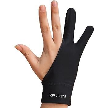XP-Pen グローブ Mサイズ 二本指 防汚ライクラ 両利き通用 ペンタブレット トレース台用 AC08