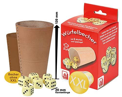 Nürnberger-Spielkarten-Verlag GmbH Würfelbecher XL - Höhe 120mm, Würfel 20 mm Kantenlänge