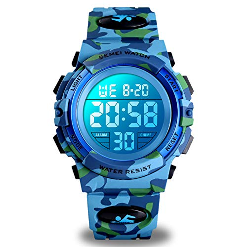 Boys Watches Ages 4-15, Kids Camouflage Digital Sports Waterproof Outdoor Analog Electronic Watches with Alarm Stopwatch, Children Birthday Presents Gifts Toys for Age 4-12 Year Old Boys Girls