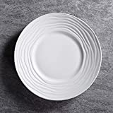 Jkckha. Ceramica semplice paglia Ins Posate colazione occidentale posate Piatto Fondo da 10 pollici