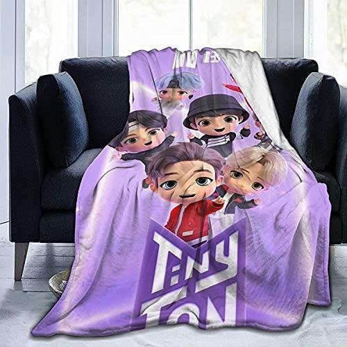 BTS - Manta de franela de BTS, para niñas, suave y cálida, microfibra, regalo para mujeres fans (BTS1, 150 x 200 cm)