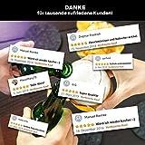 flamaroc® Filzuntersetzer Rund – 10er Untersetzer Filz Premium-Set mit Box Anthrazit Grau, Stylishe Glasuntersetzer in Dunkelgrau für Glas, Getränke, Gläser - 7