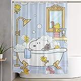liangchunmei Stilvoller Duschvorhang Snoopy nimmt einen Baddruck Wasserdichter Badezimmervorhang 60 x 72 Zoll