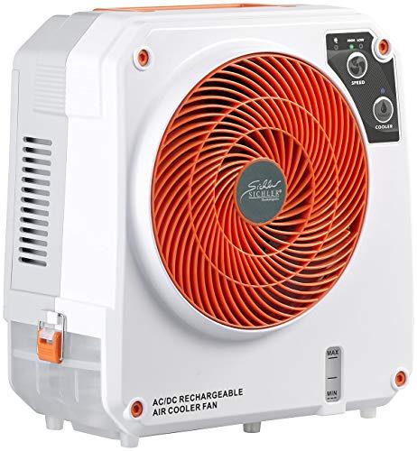 Sichler Haushaltsgeräte Mini Luftkühler: High-Power-Akku-Luftkühler mit Wasserkühlung, 26 Watt, 150 ml/Std. (Akku Klimaanlage)