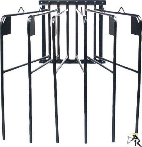 Reitsport Amesbichler AMKA Pferde Deckenhalter 6 armig schwenkbar, schwarz Pferdedeckenhalter