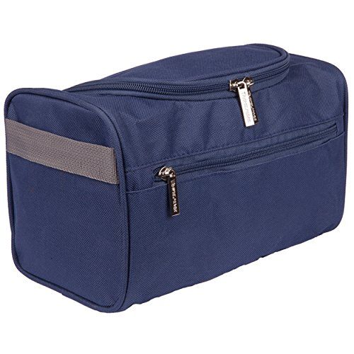TravelMore Hanging Travel Toiletry Bag Organizer & Bathroom Hygiene Dopp Kit with Hook for Traveling Accessories Toiletries Bathroom Shaving & Makeup for...