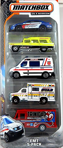 Matchbox, On a Mission 2015 Series, EMT 5-Pack by Matchbox