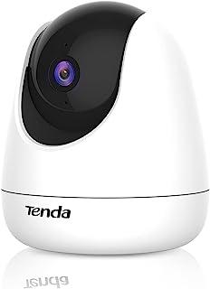 Tenda CP3 Security Pan/Tilt Camera, 1080P, Motion Detection, Sound and Light Alarm, Night Vision