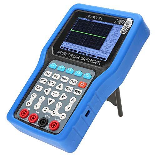 Osciloscopio digital, osciloscopio digital portátil de 2 canales con 6000 multímetros AC100-240V Compatible con función de apagado automático y modo de ahorro de energía(#1)