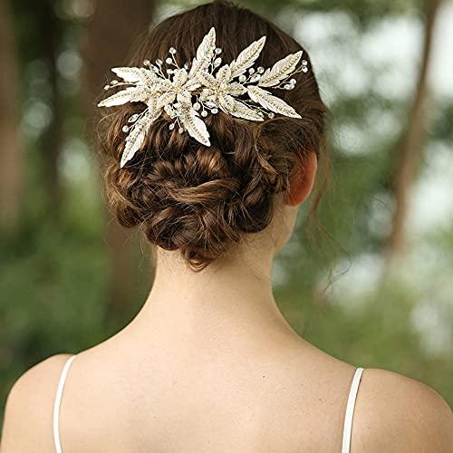 Diy - Peineta para el pelo para novia, tiara a mano, con...
