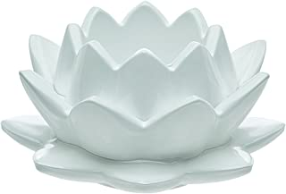 Godinger Silver Art Water Lily White Candle Holder
