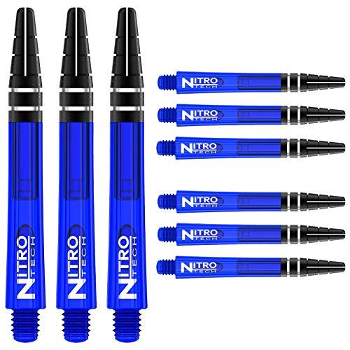 RED DRAGON Nitrotech Mittlere Schäfte - Blau - 3 Sets pro Packung (9 Wellen in total)
