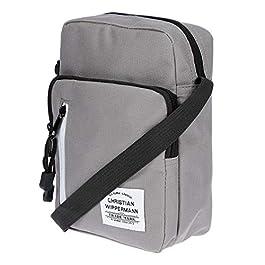 Christian Wippermann Petit sac à bandoulière en nylon pour homme et femme