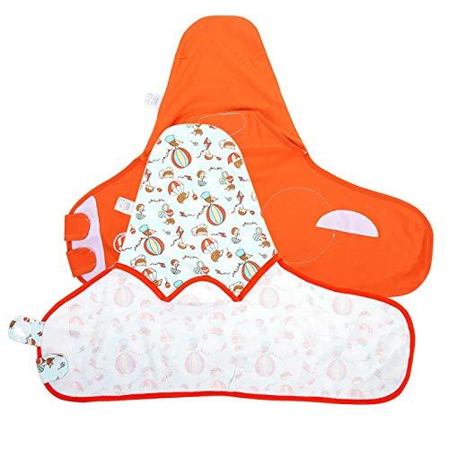 Material cómodo y suave de alta calidad 2 piezas Saco de dormir para bebés Recién nacido Swaddling para Unisex para mantener el calor(L)