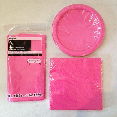 Einweggeschirr, 41Stück, Farbe: Hot Pink